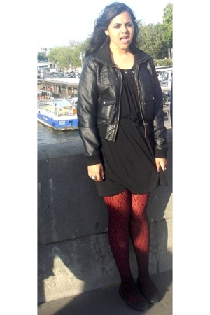 dress - H&M jacket - HUE stockings