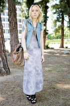 periwinkle tie dye wholsesale-dressnet dress