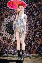 light pink kimono Glamorous jacket - black Wildfox x Jeffrey Campbell boots