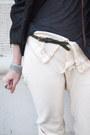 Tan-forever-21-boots-black-catherine-malandrino-jacket-off-white-slow-pants