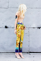 yellow cat versace pants - neutral o-mighty top