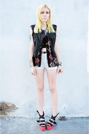 coral vintage vest - black Rebecca Minkoff vest