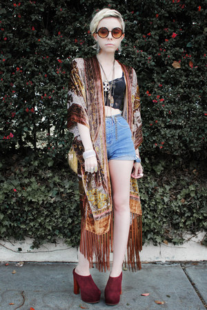fringe velvet wwwshockboutiquecom cardigan - Jeffrey Campbell shoes