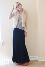 Furry-forever-21-vest-striped-american-vintage-top-forever-21-skirt-pour-l