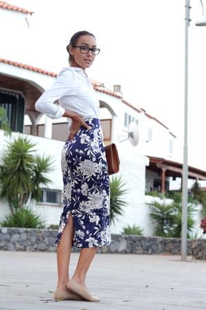 Zara skirt - Zara shirt - Zara heels