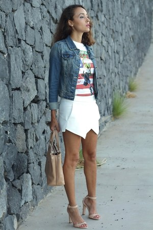 Zara shorts - suiteblanco shirt - Zara heels