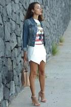 Zara shorts - suiteblanco shirt - Zara heels