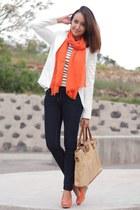 Zara shirt - Lefties blazer - Zara heels