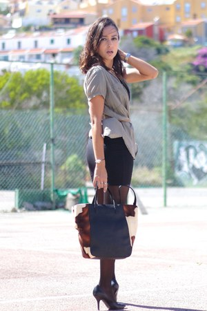 H&M dress - Mussgo Piel bag - Zara blouse