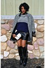 Black-boots-off-white-print-zara-coat-navy-sweater