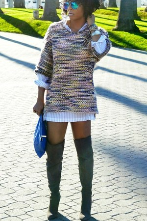H&M sweater - gray over the knee Vince Camuto boots