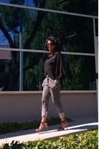 black romeo & juliet blouse - white marled sweat Phanuel pants