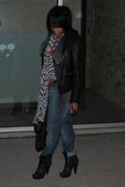 Pour La Victoire boots - ck jeans - leather Michael Michael Kors jacket - Marc b
