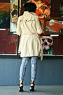 Cream-trench-w118-walter-baker-coat-carrot-orange-stripe-bariii-blouse