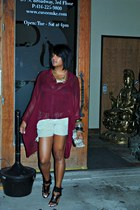 crimson nastygal blouse - beige Union Bay shorts