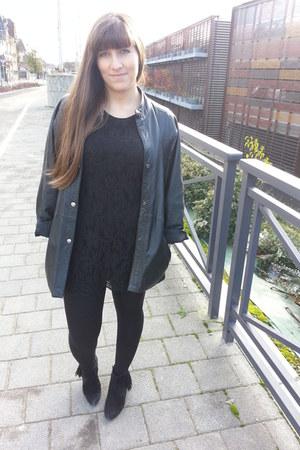 H&M dress - vintage jacket