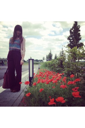 Stradivarius shoes - Primark top - new look pants