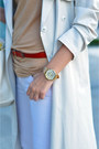 Red-office-shoes-ivory-trench-h-m-coat-beige-stradivarius-top