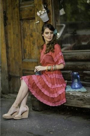 bubble gum Biune dress - light pink pull&bear wedges