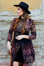 black Bershka dress - black H&M hat