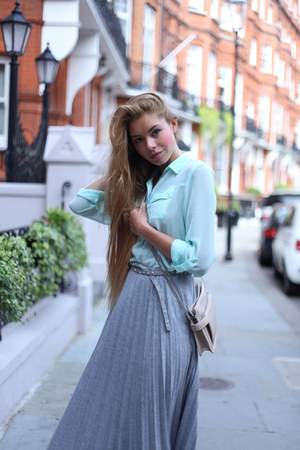 silver Skirt skirt - light blue Blouse blouse