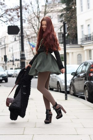 forest green American Apparel skirt
