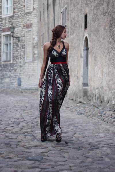 black Etro dress