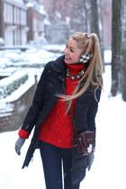 red Zara sweater