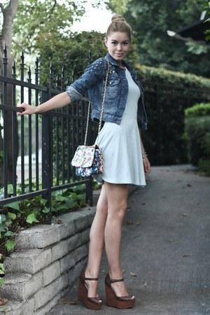 light blue Topshop dress