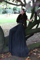 dark gray Zara dress