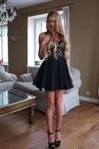 black Topshop vest - black asos skirt