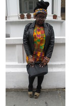 black vintage jacket - black Urban Outfitters bag