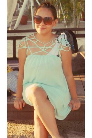 light blue chiffon Sheinsidecom dress