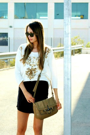 Zara shorts - Ray Ban sunglasses - sequined Zara top