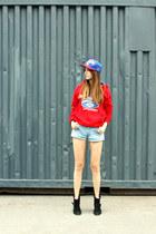brave soul hoodie - Levis shorts