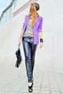 Beige-leopard-bershka-top-light-purple-blazer
