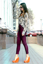 Ann Christine shirt - Topshop sunglasses - Senso wedges - H&M pants