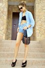 Black-sequined-asos-top-light-blue-oversized-denim-ann-christine-shirt