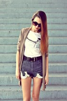 snaptee t-shirt - DIY shorts - asos sunglasses