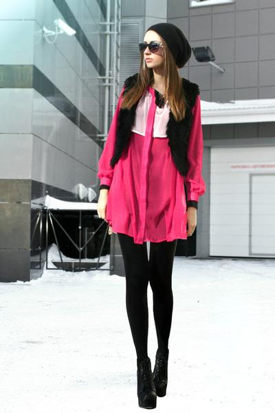faux fur DIY vest