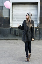 charcoal gray custom made coat
