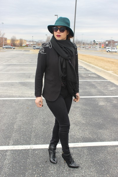 ALTUZARRA boots - American Eagle jeans - H&M blazer - ann taylor shirt