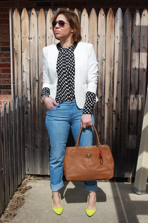 Gap jeans - Forever 21 blazer - banana republic shirt - coach bag