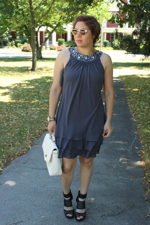 Macys dress - Forever 21 bag - Charlotte Russe sandals - francescas watch
