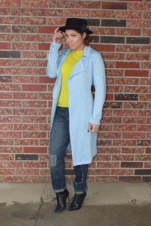 ALTUZARRA boots - Forever 21 coat - Gap jeans - JCrew sweater