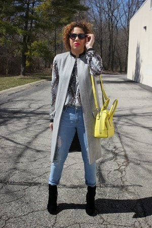 Victorias Secret boots - Gap jeans - Forever 21 shirt - kate spade bag