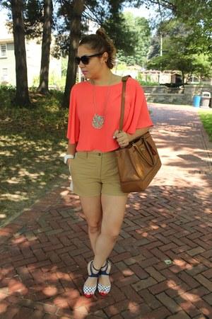 Forever 21 top - coach bag - Gap shorts - Shoedazzle sandals - Diesel watch