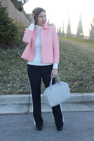 Zara jacket - Forever 21 sweater - H&M bag - ann taylor pants