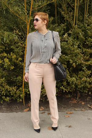 Loft pants - Michael Kors bag - BCBGeneration pumps - Loft blouse