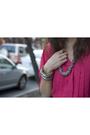 Pink-vintage-blouse-black-forever-21-shorts-silver-charlotte-russe-bracelet-